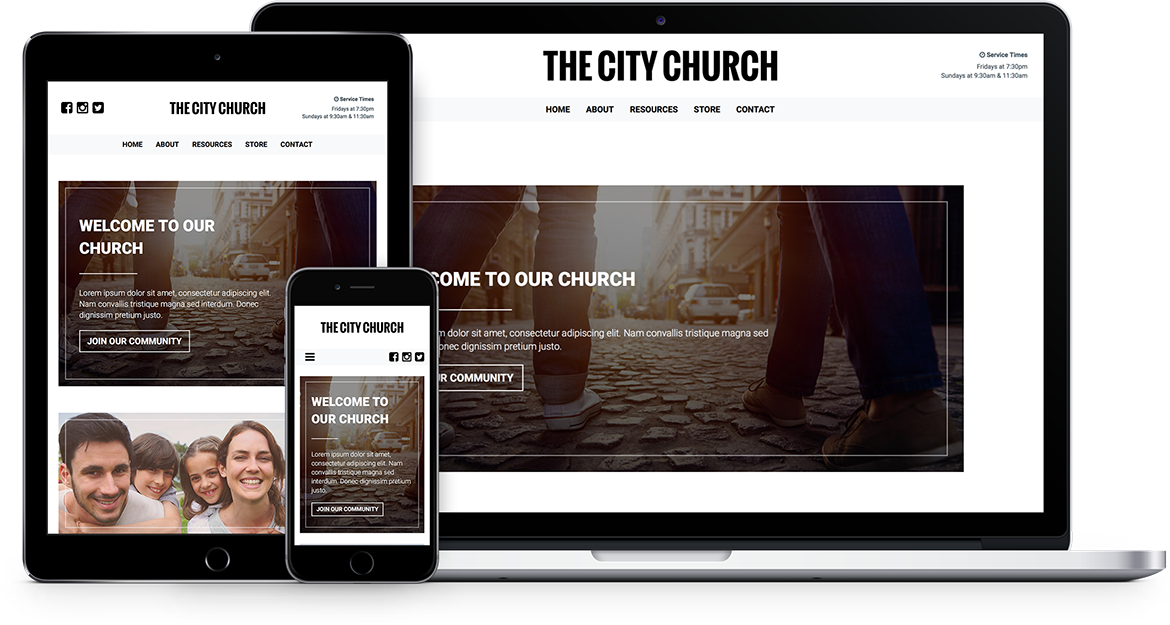 Theme or Custom Church and Ministry Website Design